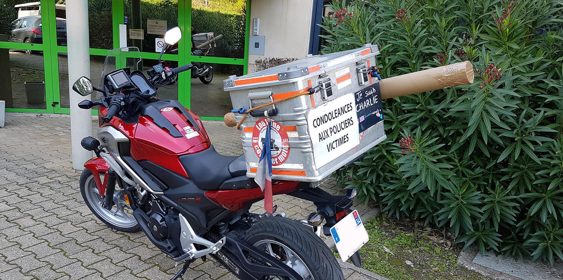 course urgente moto Montpellier